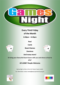 Games Night @ Equity Centre | England | United Kingdom